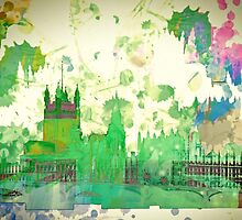 Westminster London, Water colour by Sebastien Coell