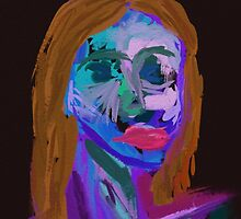 abstract red haired woman by Lucycles
