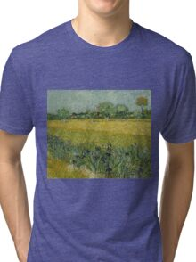 Vincent Van Gogh - Field with Flowers near Arles, 1888 Tri-blend T-Shirt