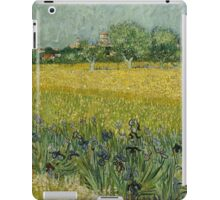 Vincent Van Gogh - Field with Flowers near Arles, 1888 iPad Case/Skin