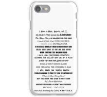 I Do Geek - Version 2 iPhone Case/Skin