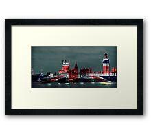 Westminster London England, UK Flag, Union Jack Framed Print
