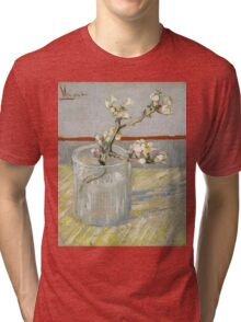 Vincent Van Gogh - Sprig of flowering almond in a glass, March 1888 - 1888 , Still Life,  Impressionism Tri-blend T-Shirt