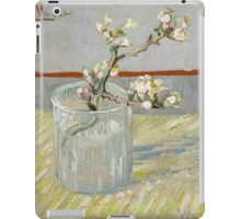 Vincent Van Gogh - Sprig of flowering almond in a glass, March 1888 - 1888 , Still Life,  Impressionism iPad Case/Skin