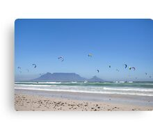 Kitesurfing Cape Town, South Africa Canvas Print