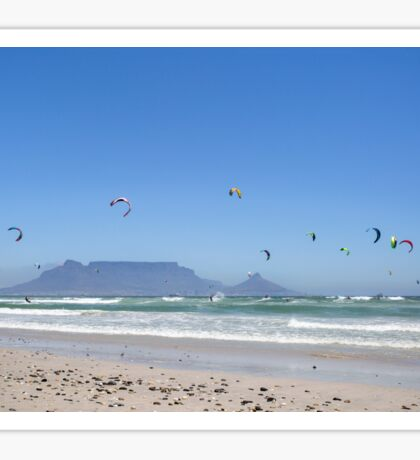 Kitesurfing Cape Town, South Africa Sticker