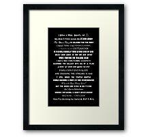 I Do Geek - Version 2 - B&W Framed Print