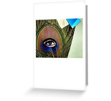 """""""Eye of the Feather""""  Greeting Card"""