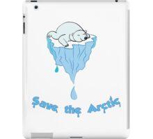 Save the Arctic bear iPad Case/Skin