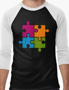 Hipster Puzzle Cool T-Shirts Men's Baseball ¾ T-Shirt