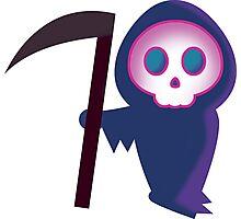 Cute Grim Reaper Photographic Print