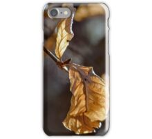 Copper-colored leaves iPhone Case/Skin