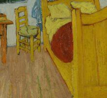 Vincent Van Gogh - The bedroom, October 1888 , Impressionism Sticker