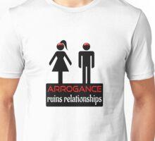 Couples - Arrogance in Black on White Unisex T-Shirt