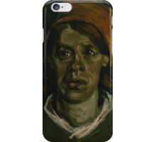 Vincent Van Gogh - Head of a woman, March 1885 - 1885 iPhone Case/Skin