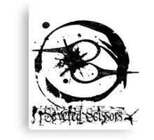 Severed Scissors Logo Canvas Print