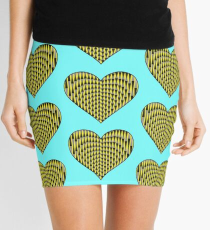 Up & Down Heart Mini Skirt