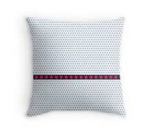 Geometric Pattern - Blackberry and Strawberry Throw Pillow