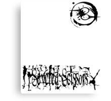 Small Severed Scissors Logo Canvas Print