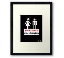 Couples - Arrogance in White on Black Framed Print