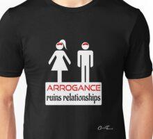 Couples - Arrogance in White on Black Unisex T-Shirt