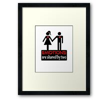 Couples - Emotions in Black on White Framed Print