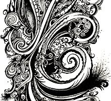Eyes on You, Ink Drawing by Danielle Scott