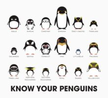 Know Your Penguins One Piece - Short Sleeve