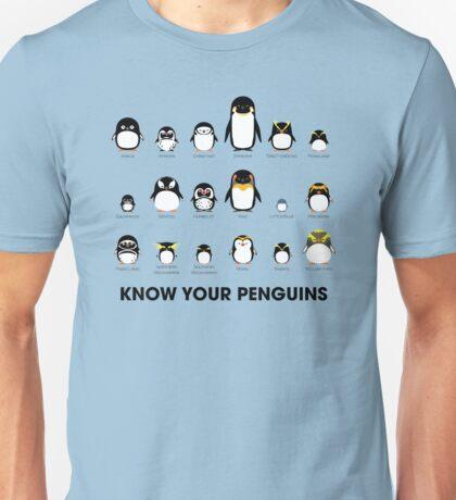 Know Your Penguins Unisex T-Shirt
