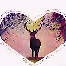 Deer with heart - Hirsch Herz by artshop77