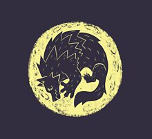 Woodcut Werewolf - Yellow Moon Unisex T-Shirt