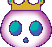 Cute Skull with Crown by PsychicCatStore
