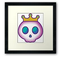 Cute Skull with Crown Framed Print