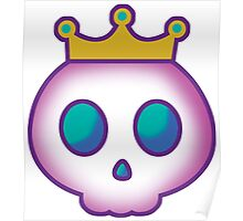 Cute Skull with Crown Poster