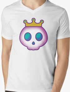 Cute Skull with Crown Mens V-Neck T-Shirt