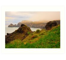 Coastal landscape in Azores Art Print