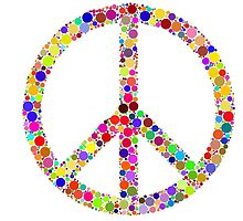 Hippie Peace Love T-Shirts by MrAnthony88