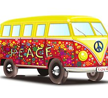 Hippie Van Peace by MrAnthony88