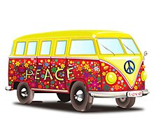 Hippie Van Peace Photographic Print