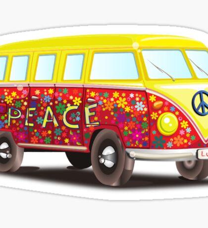 Hippie Van Peace Sticker