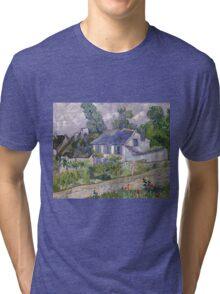 Vincent Van Gogh - Houses at Auvers, December 1885 - February 1886 Tri-blend T-Shirt