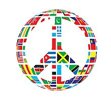 World Peace Love Photographic Print