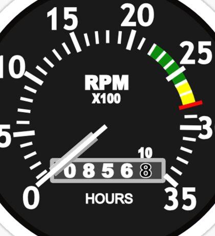 TACHOMETER, RPM, SPEED, RACE, MOTORSPORT, RACING, SPEEDOMETER, REV COUNTER Sticker