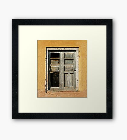 Ancient Doorway Framed Print