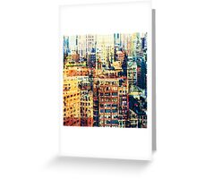life in the city Greeting Card