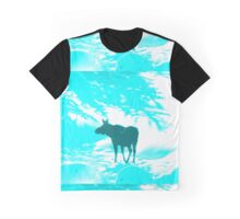 Turquoise Moose on the loose!  Graphic T-Shirt