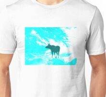 Turquoise Moose on the loose!  Unisex T-Shirt