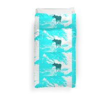 Turquoise Moose on the loose!  Duvet Cover