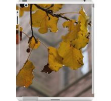 Rainy Leaves iPad Case/Skin