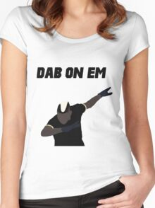 Pogba - Dab on Em Celebration minimalist Women's Fitted Scoop T-Shirt